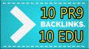 build 10 Edu And 10 PR9 Us based High Pr Backlinks
