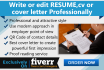 write or edit RESUME,cv or cover letter Professionally