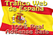 give Adsense safe web traffic from Spain