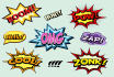 do amazing Comic Book Words,Background, within 4 days