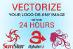 vectorize Your Raster Image, Old Logo or Any Portrait
