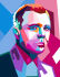 draw your photo into WPAP style illustration