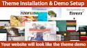 setup WordPress theme same as Demo