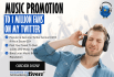 do Music Promotion  to 1 Million Fans on my Twitter