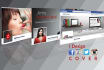 design eye catching Facebook cover or banner