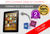 convert any document for the ibooks store