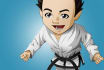 illustrate a sports, martial arts or fitness related cartoon