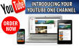 design create a youtube one channel art business or personal visual identity banner photo cover