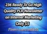 send You 236 Ready To Go High Quality PLR Newsletter on Internet Marketing