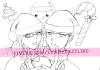 make line art of character in Manga style