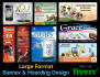design large format banners and hoarding