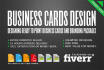 design Professional ready to print Business Cards