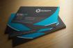 design Dark and elegant Blue corporate Business cards