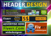 design an Attractive, Professional Header delivered within 24 hours