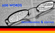 proofread and edit 600words German text/data