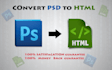 convert psd to html or responsive bootstrap