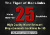 do 25 high Quality Niche relevant BACKLINKS