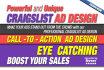 design a PROFESSIONAL Craigslist Ad