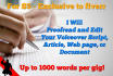 pro proofread or edit your voiceover script up to 1000 words
