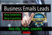 provide any Business Leads with Emails