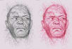 draw your portrait in scribble art