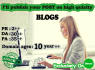 publish your guest post on high quality blogs