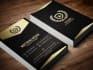 make golden business card