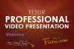 professionally create your video presentation with VOICEOVER