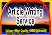 write 500 Words SEO High Quality Content