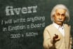 place your logo or message written on the board by Einstein