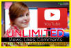 promote Youtube video Unlimited Views, likes, comments oppertunity