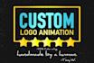 produce a CUSTOM logo animation