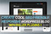 install wordpress with KILLER theme and plugins