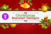 design a amazing Christmas banner