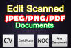 edit your scanned documents in photoshop