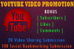 promote your Youtube video url with Special Package