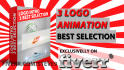 create  3 best Video Intro Logo Animation