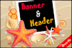 create awesome web banner, header, Facebook cover