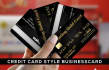 design credit card style business card