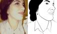 draw line art portrait vector face