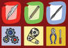 design 3 handdraw icons or buttons