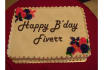 design your FB friend s birthday messages on plain icing cake