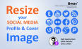 resize your social media profile and cover image