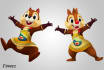 transform your voice to funny Chip n Dale version