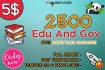 2500 US Based Edu And Gov Backlinks