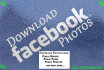 download all page/profile facebook images