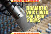 read your poem and record it behind mood music