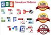 create editable pdf file and convert file format
