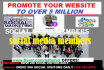 promote your website to over 5 million social media members