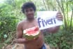 find your message in Watermelon fruit